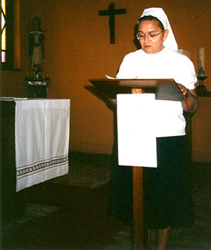 lezing door Zr Rolande in liturgie